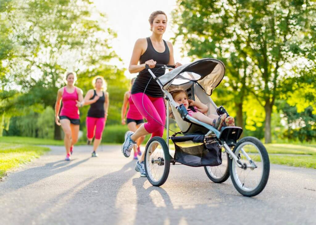 active mother jogging on Women's Health Day